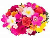Букет керамический из тропических цветов