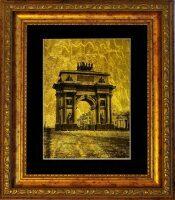 """Картина на сусальном золоте """"Триумфальная арка"""""""
