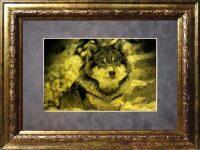 "Картина на сусальном золоте ""Волк"""