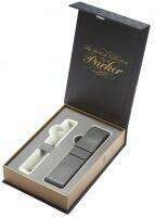Подарочная коробка с серым чехлом под ручку Parker