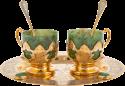 """Кофейный набор из нефрита """"Дуэт"""" на 2 персоны (Златоуст)"""