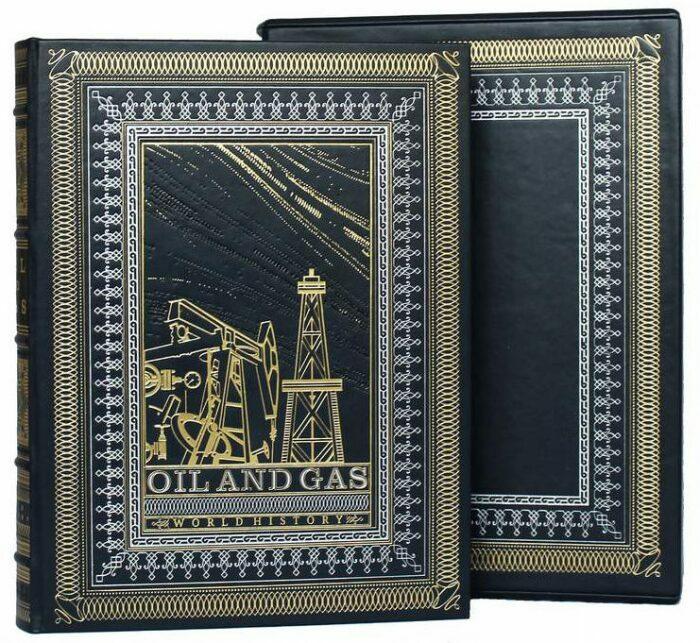 """Подарочная книга в кожаном переплете """"Нефть и газ."""" (на английском языке)- 0"""