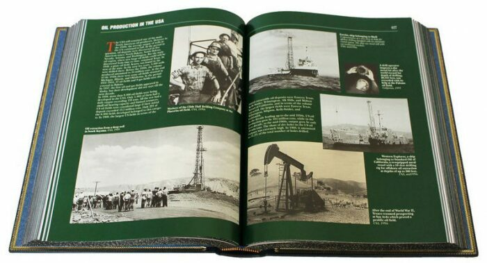 """Подарочная книга в кожаном переплете """"Нефть и газ."""" (на английском языке)- 2"""