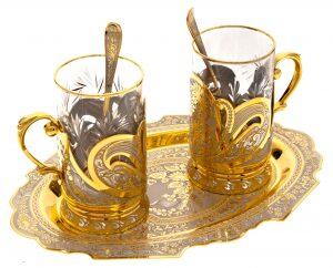 """Чайный набор """"Дуэт"""" на 2 персоны (Златоуст)"""
