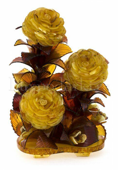 """Букет из янтаря """"Цветущие розы""""- 0"""