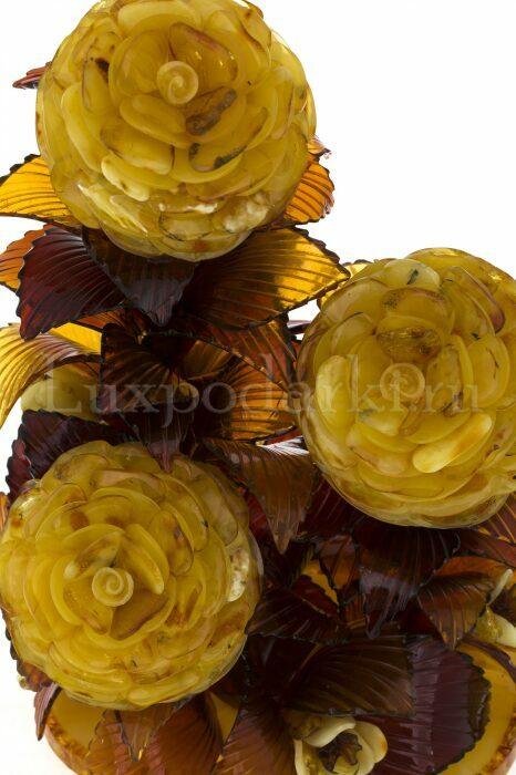 """Букет из янтаря """"Цветущие розы""""- 2"""