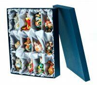 """Подарочный набор из 12 шт. мини-штофов """"Ёлочные игрушки"""""""