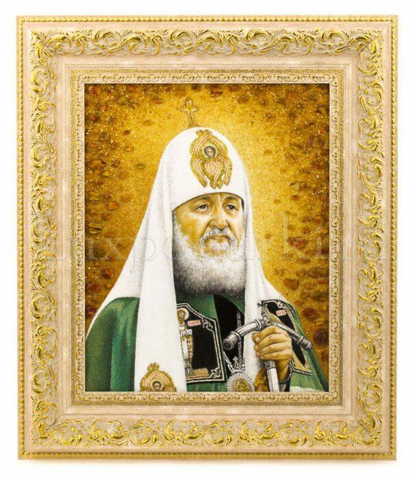 """Картина из янтаря """"Портрет патриарха""""- 0"""