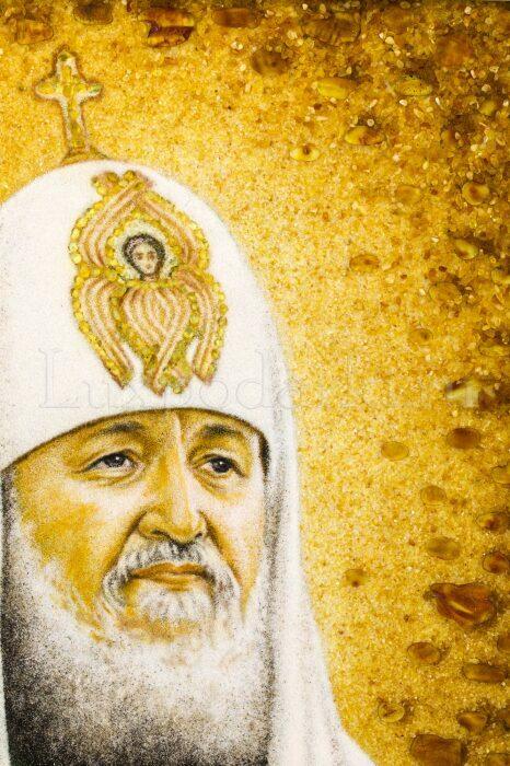 """Картина из янтаря """"Портрет патриарха""""- 2"""