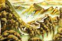 """Объемная картина из янтаря """"Великая Китайская стена""""- 3"""