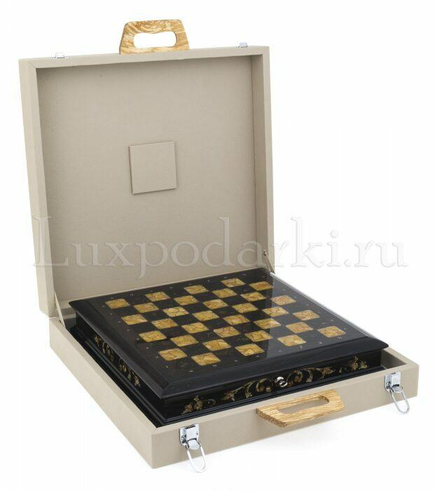 Шахматный ларец из янтаря (морёный дуб)- 3