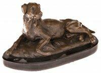 """Скульптура бронзовая """"Собака лежит"""""""