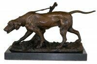 """Скульптура бронзовая """"Собака на охоте"""""""