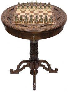 """Резной шахматный стол """"Вокруг света"""""""