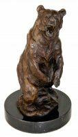 """Скульптура бронзовая """"Медведь на задних лапах"""""""