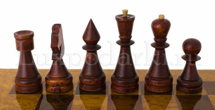 Стол шахматный с фигурами из карельской березы- 4
