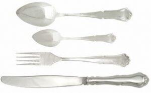 Набор столовый из серебра (4 предмета)
