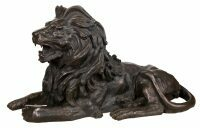 """Скульптура бронзовая """"Лежащий лев"""" (правый)"""