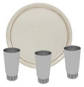 """Набор винный """"Классика"""" из серебра без покрытия (3 персоны)"""