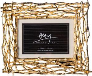 """Рамка для фото  Michael Aram """"Золотые ветви""""  (10x15 см) золотая"""