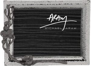 """Рамка для фото  Michael Aram """"Черная орхидея""""  (13х18 см) серебряная"""