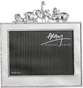 """Рамка для фото  Michael Aram """"Животные""""  (13х18 см) серебряная"""