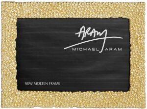 """Рамка для фото  Michael Aram """"Золотые жемчужины""""  (13х18 см) золотая"""