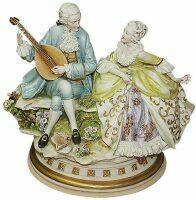 "Статуэтка  Porcellane Principe ""Дама и кавалер с лютней"""