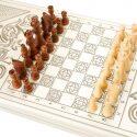 """Шахматный стол """"Симфония"""" белый- 1"""