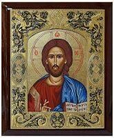 """Икона  Credan SA """"Христос Вседержитель""""  прямоугольная"""