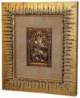 """Декоративное панно  Linea Argenti """"Владимирская икона Божией Матери"""" , золотая рамка"""
