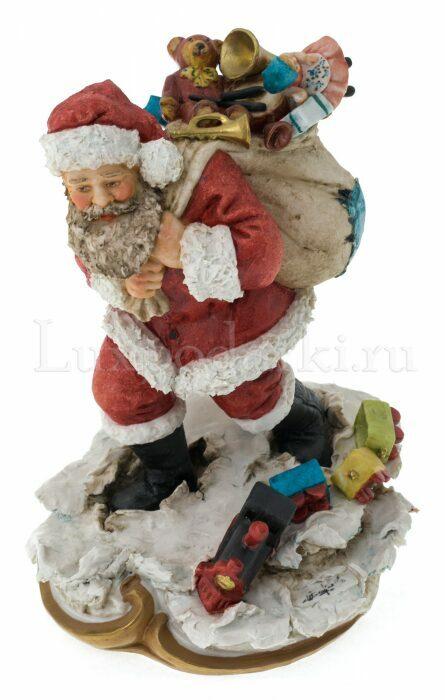 """Статуэтка  Venere Porcellane D Arte """"Санта Клаус с мешком подарков"""" - 0"""