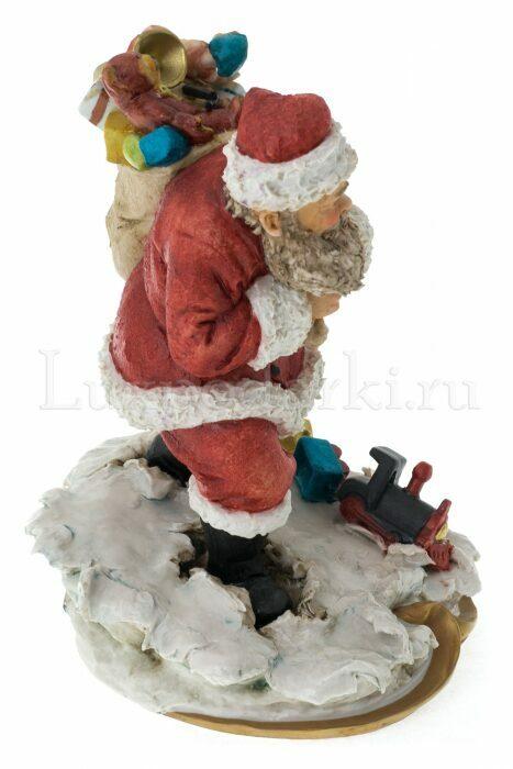 """Статуэтка  Venere Porcellane D Arte """"Санта Клаус с мешком подарков"""" - 1"""