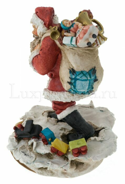 """Статуэтка  Venere Porcellane D Arte """"Санта Клаус с мешком подарков"""" - 3"""