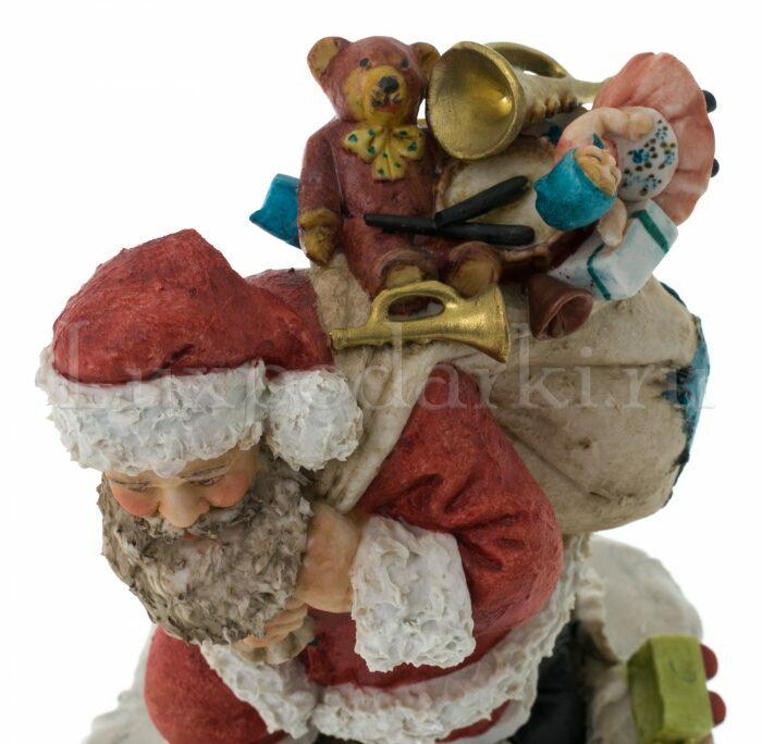 """Статуэтка  Venere Porcellane D Arte """"Санта Клаус с мешком подарков"""" - 2"""
