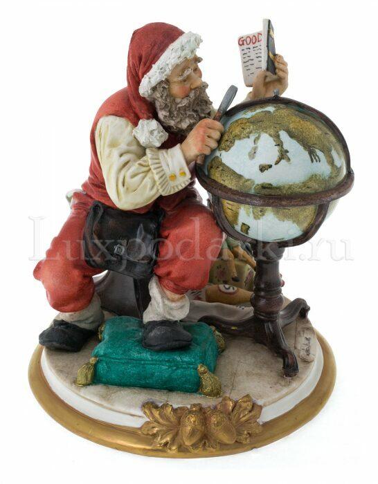 """Статуэтка  Venere Porcellane D Arte """"Санта Клаус с глобусом"""" - 1"""