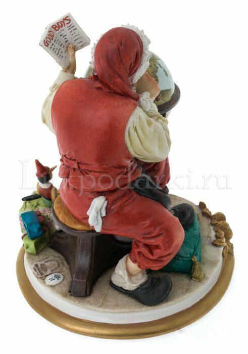 """Статуэтка  Venere Porcellane D Arte """"Санта Клаус с глобусом"""" - 3"""