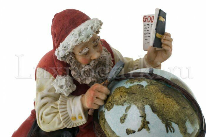 """Статуэтка  Venere Porcellane D Arte """"Санта Клаус с глобусом"""" - 2"""
