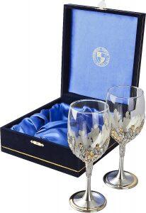 "Набор бокалов для вина  Clearmont ""Glass in Flowers"""