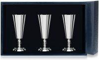 Набор серебряных рюмок №2 из 3 предметов Аргента