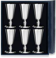 Набор серебряных рюмок №4 из 6 предметов Аргента