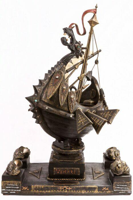 """Масштабная модель корабля из мореного дуба """"Венари""""- 1"""