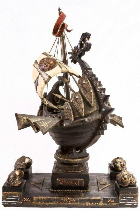"""Масштабная модель корабля из мореного дуба """"Венари""""- 11"""