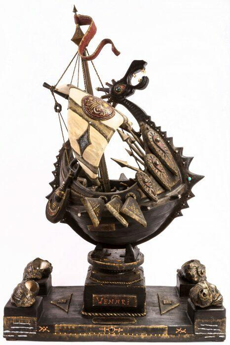 """Масштабная модель корабля из мореного дуба """"Венари""""- 3"""