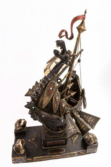 """Масштабная модель корабля из мореного дуба """"Венари""""- 4"""