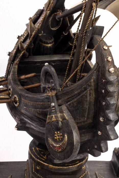 """Масштабная модель корабля из мореного дуба """"Венари""""- 6"""