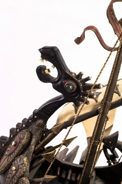 """Масштабная модель корабля из мореного дуба """"Венари""""- 7"""