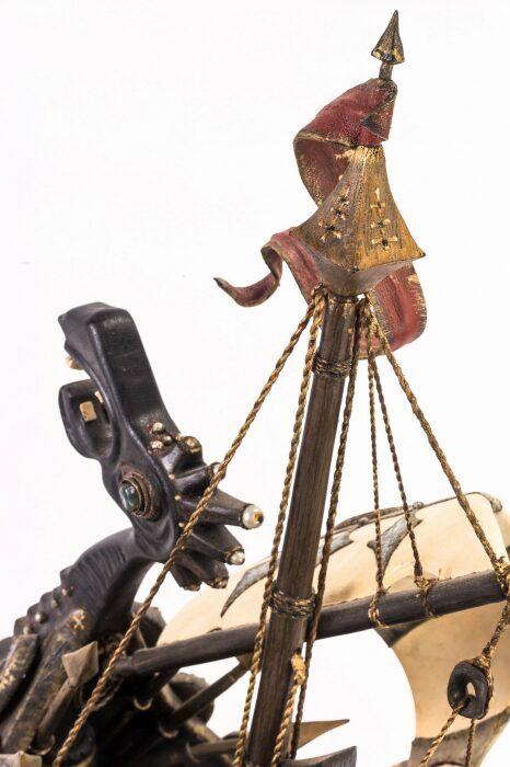 """Масштабная модель корабля из мореного дуба """"Венари""""- 2"""