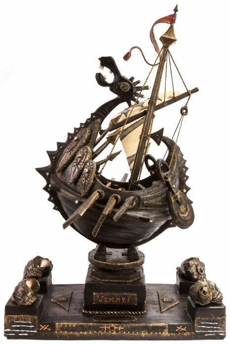 """Масштабная модель корабля из мореного дуба """"Венари""""- 0"""