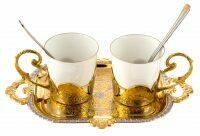 """Кофейный набор на две персоны """"Черный кофе"""""""
